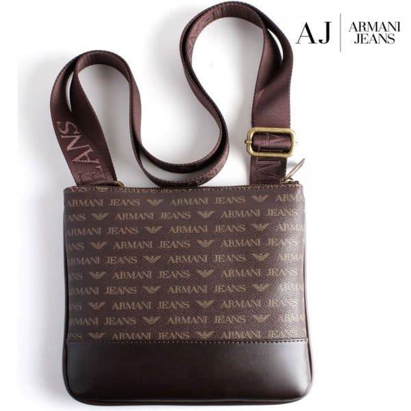 Armani Jeans Armani Jeans Brown PU Side Bag 06205 J4 - Armani Jeans ... 2c76dcd673e51