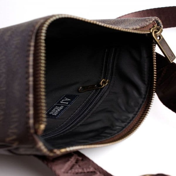 5fa8049459a8 Armani Jeans Armani Jeans Brown PU Side Bag 06205 J4 - Armani Jeans ...