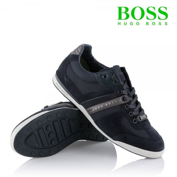 factory outlet choose latest low priced Hugo Boss Hugo Boss Akeen Open Blue Navy Trainers 50247604