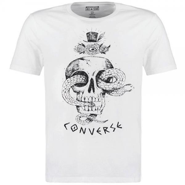 11f44449c0e1 Converse Converse All Star Skull Print T-Shirt Off White 14688C ...