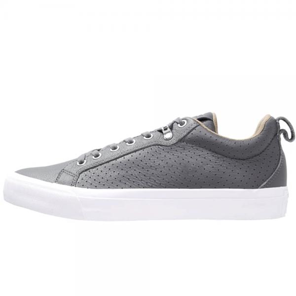 8f4a3b180c9f Converse Footwear Converse Fulton Thunder Grey Leather Trainers ...