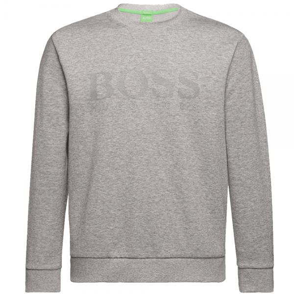1f7fcec0d Hugo Boss Hugo Boss Salbo Grey Crew Neck Logo Sweatshirt 50302094 ...