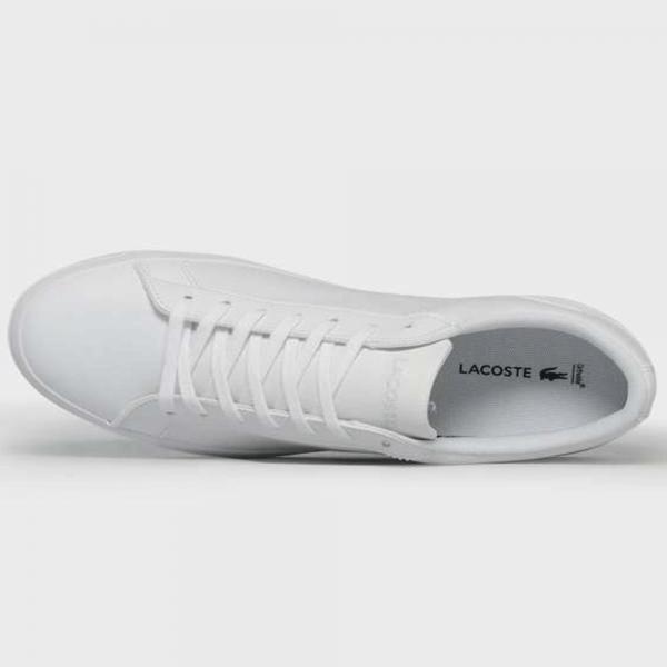 01beece9e85f3 Lacoste Footwear Lacoste Lerond 316 1 SPM White Leather Trainers ...
