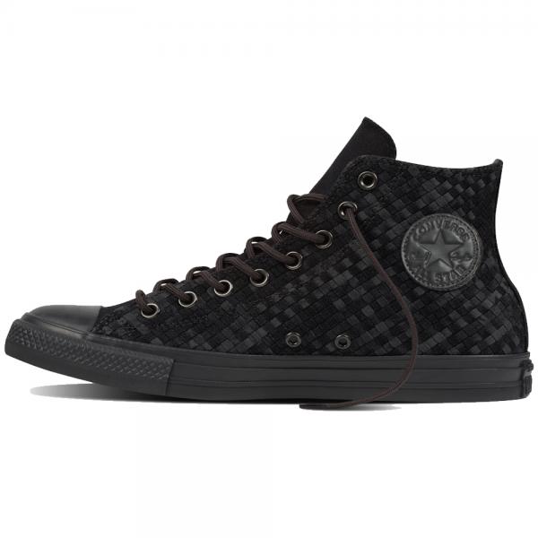eb00f31451d0 Converse Footwear Converse All Star Black Grey Weave Hi Top Trainers ...