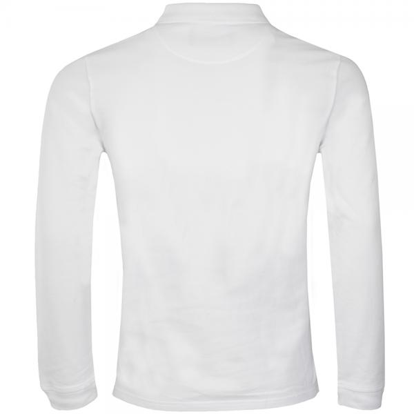 9ad4778e Lyle & Scott Lyle & Scott Plain Long Sleeve Pique Polo White ...