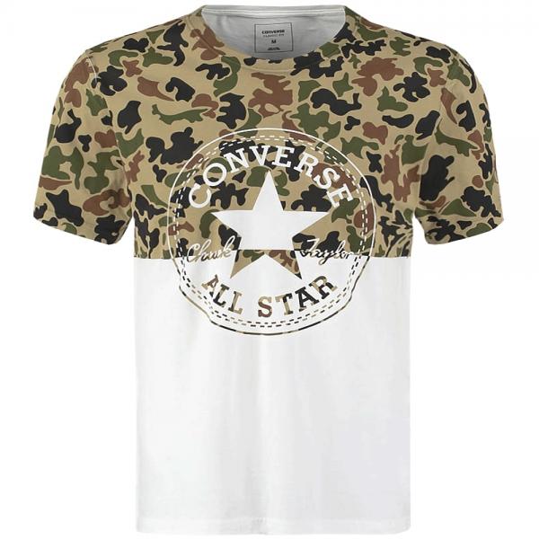 Converse Converse Camo Print Big Logo T Shirt White 10001192 ... 67ca608125a5