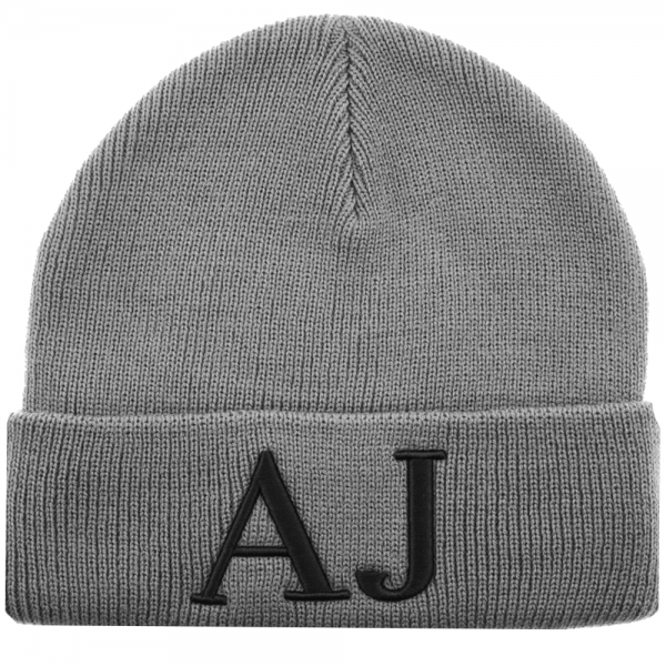 Armani Jeans Armani Jeans AJ Logo Grey Turn Up Beanie Hat 934037 ... c3003a7a119