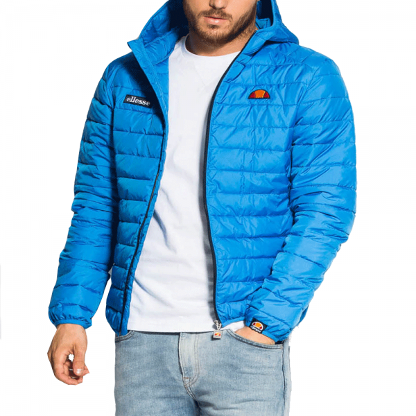 e7b3a480 Ellesse Ellesse Lombardy Quilted Bright Blue Polyester Hooded Jacket