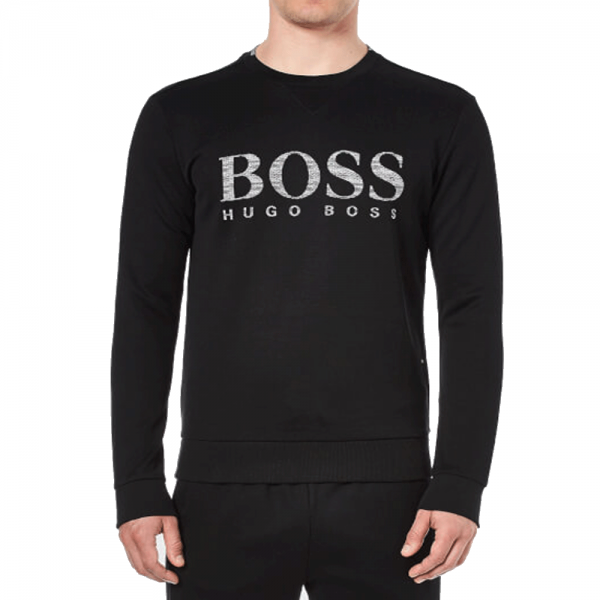 950b92ab Hugo Boss Hugo Boss Salbo Black Crew Neck Logo Sweatshirt 50312753 ...