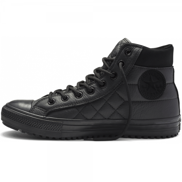 b6a4a8183767 Converse Footwear Converse All Star Black Quilted Leather Hi Top ...