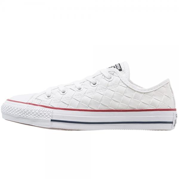 9430e90f97cb Converse Footwear Converse All Star Ox White Weave Plimsole Trainers ...