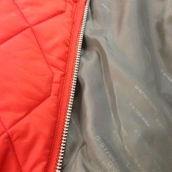 G Star G Star Meefic Quilted Overshirt Jacket Orange D03485 G Star