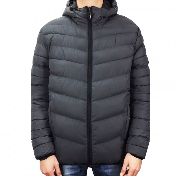8f0fc3e7d Foray Foray Alexander Dark Grey Camo Reversible Quilted Hooded ...