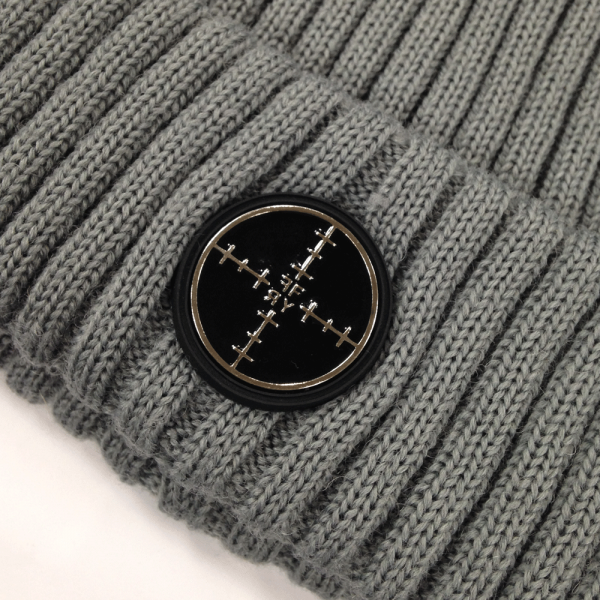 Foray Navy Woolmix Beanie a With Turn-Up