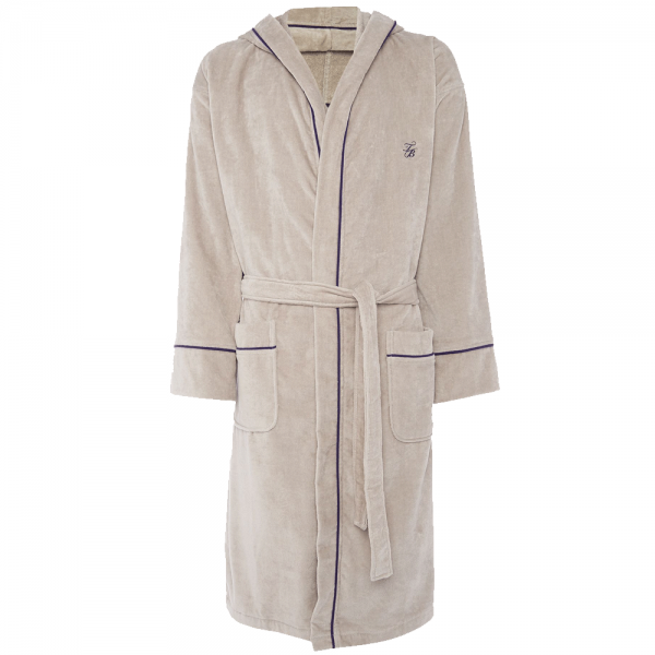 Ted Baker Ted Baker Padrec Light Grey Cotton Towelling Dressing Gown ...