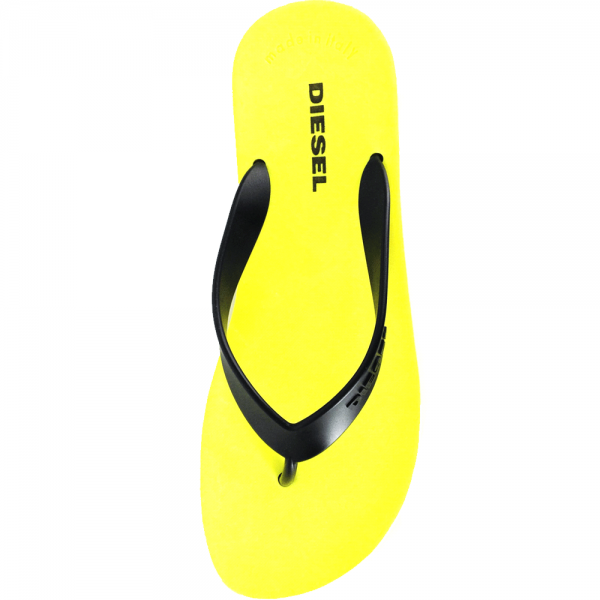 854c815e1077 Diesel Diesel Splish Black Yellow Flip Flops Sandals - Diesel from ...