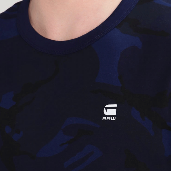 09dc699b G-Star G-Star Hoyn Camo Print Crew Neck T-Shirt Dark Blue D04182 - G ...