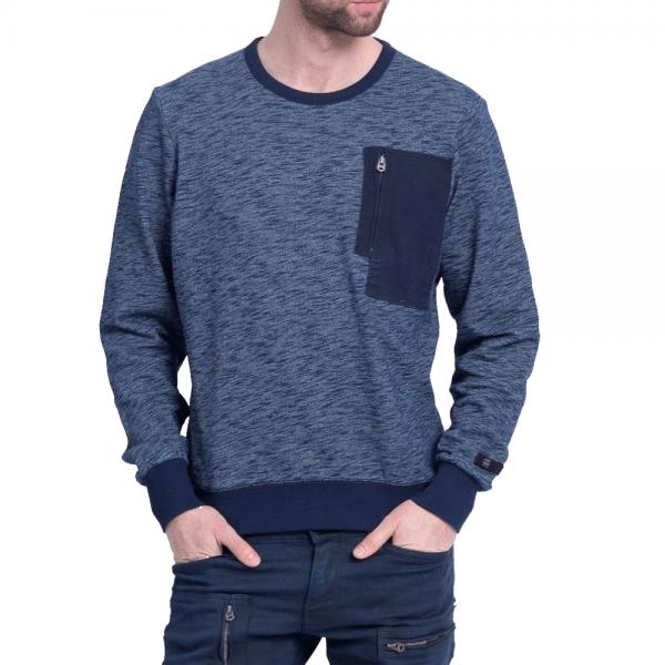 G-Star Powel Crew Neck Sweatshirt Indigo Blue Marl D03992