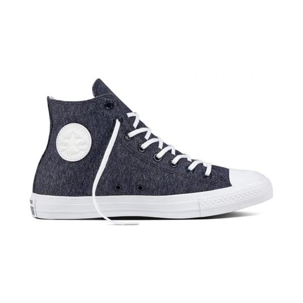 29a84e636590 Converse Footwear Converse All Star Navy Marl Jersey CTAS Hi Top ...