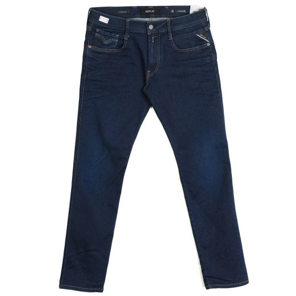Replay Replay Anbass Hyperflex Surf Blue Denim Jeans M914Y 661 319 007
