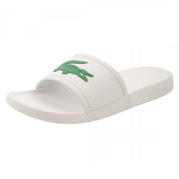 Lacoste Footwear Lacoste Croco Slide 119 White Slide