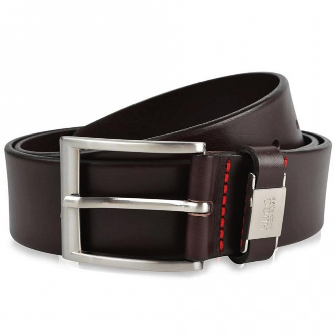 HUGO by Hugo Boss C-Connio Dark Brown Leather Belt 50292592