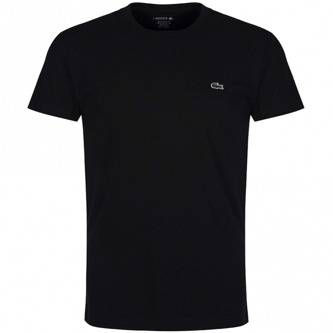 lacoste th6709 soft pima cotton t shirt black from club. Black Bedroom Furniture Sets. Home Design Ideas