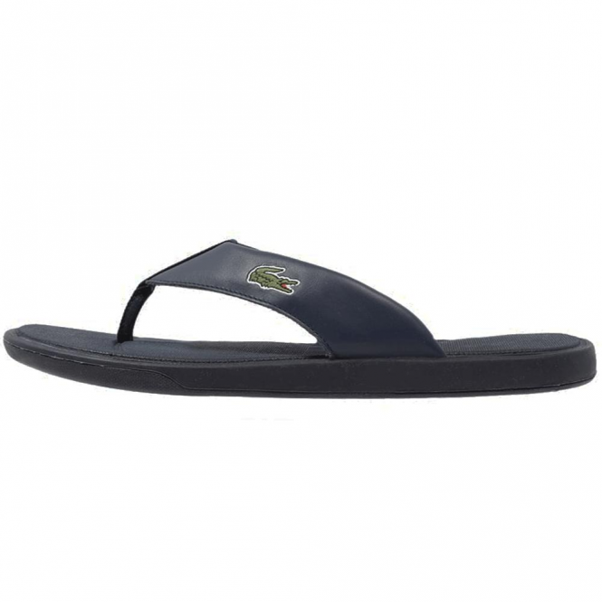 Leather Straps Sandals Navy - Lacoste