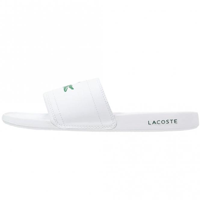 0194540335b53 Lacoste Footwear Lacoste Fraisier BRD1 White Slide Sandals - Lacoste ...