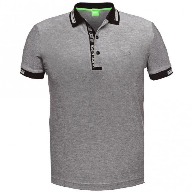 cea324da4 Boss Green Boss Green Paule 4 Slim Fit Polo Black Grey 50272969 ...