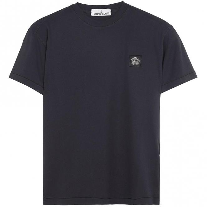 db654170 Stone Island Stone Island Logo Plain T-Shirt Dark Blue V0028 24141 ...