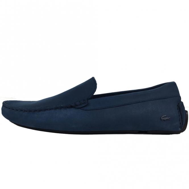 1c6eaa604 Lacoste Footwear Lacoste Piloter 316 Dark Blue Slip On Loafer Shoes ...