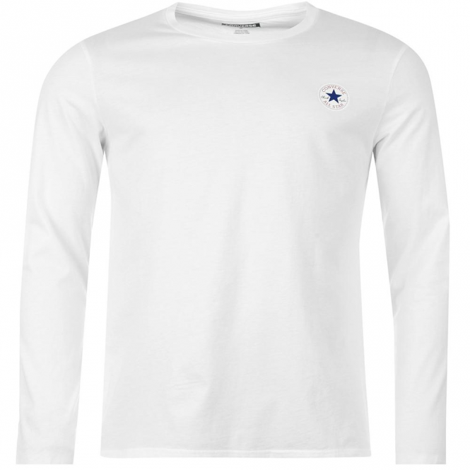 7e86ec1b17be Converse Converse All Star Chest Logo Long Sleeve T-Shirt White 102 ...