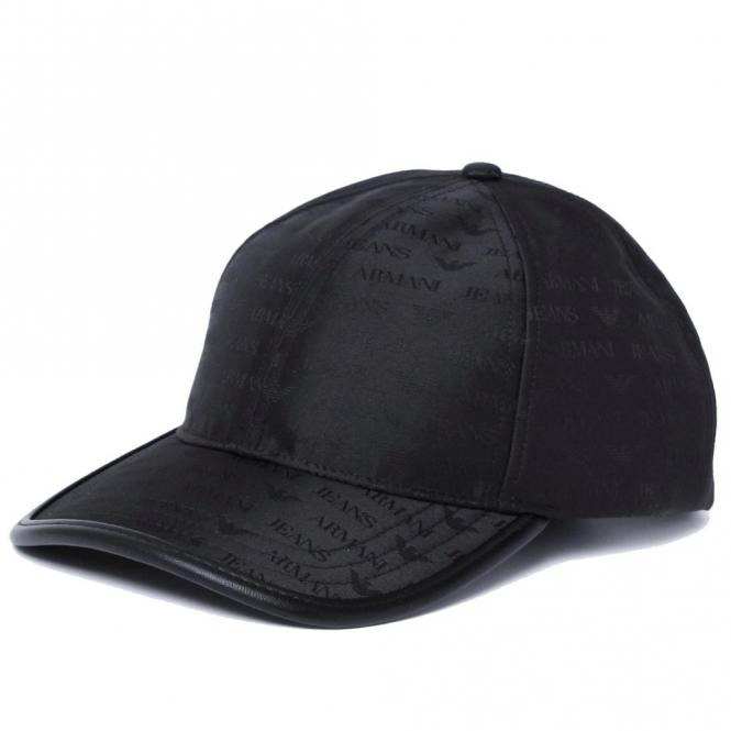 release date: quality pre order Armani Jeans Armani Jeans Black Nylon BaseBall Cap 934500