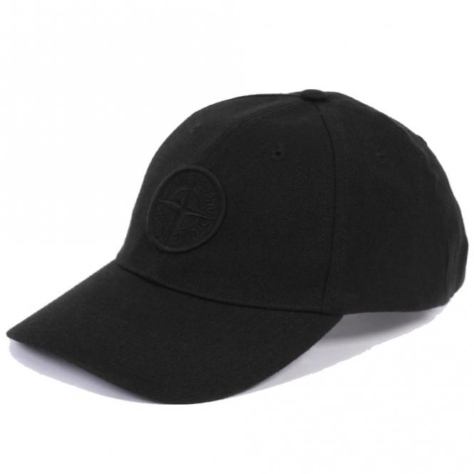 37ce25855b5 Stone Island Stone Island Black Baseball Cap V0020 99175 - Stone ...
