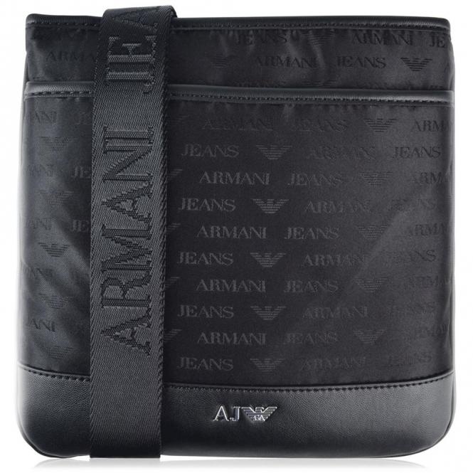 Armani Jeans Armani Jeans Black Nylon Small Side Bag 932527 CC993 ... 89689505b0794