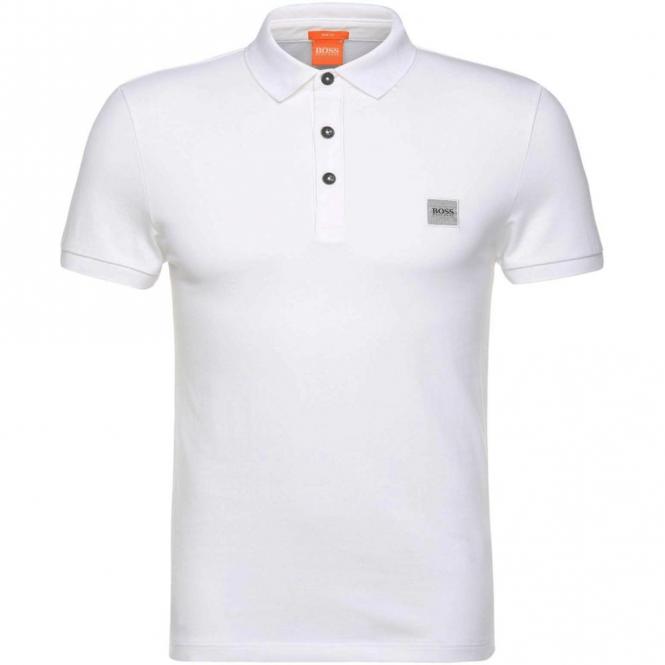 143de3a4 Boss Orange Boss Orange Pavlik Pique Polo White 100 50326320 - Boss ...
