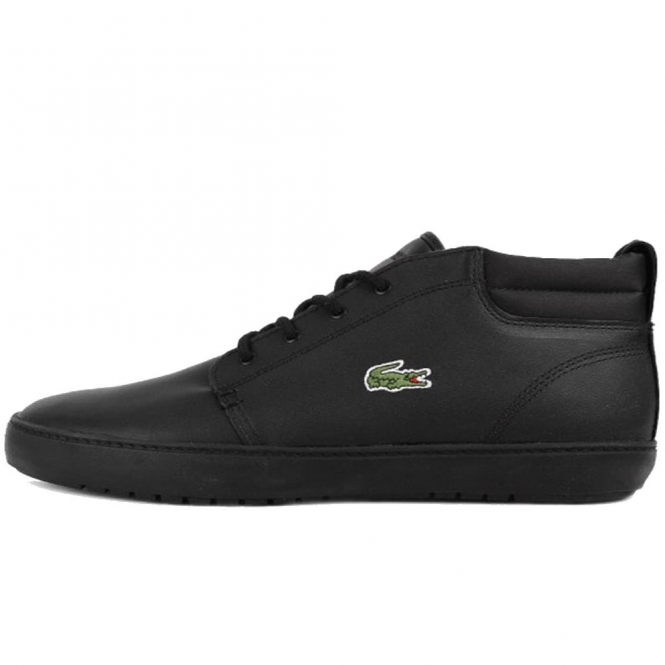 4a016ca8c Lacoste Footwear Lacoste Ampthill Terra 316 Black Leather Trainer ...
