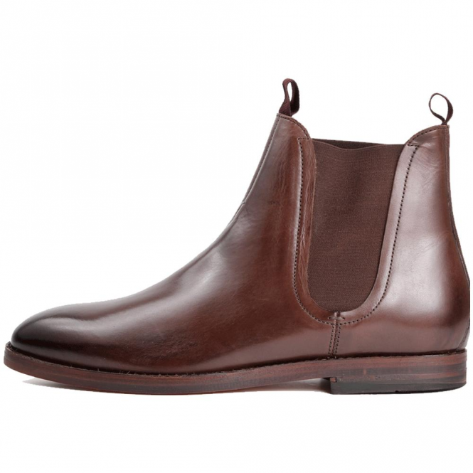Hudson Tamper Brown Leather Chelsea Boots