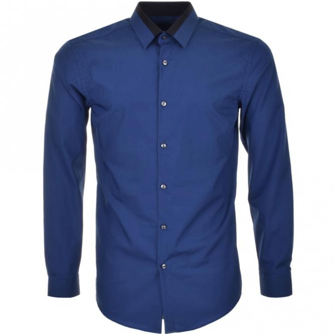 049b18cd5 Hugo Boss Hugo Boss Jarret Blue Plain Shirt Long Sleeve 50322852 ...