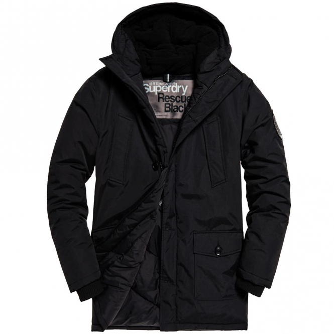 Superdry Superdry Everest Parka Coat Black 02A M50001GN - Superdry ... a3e1badad097