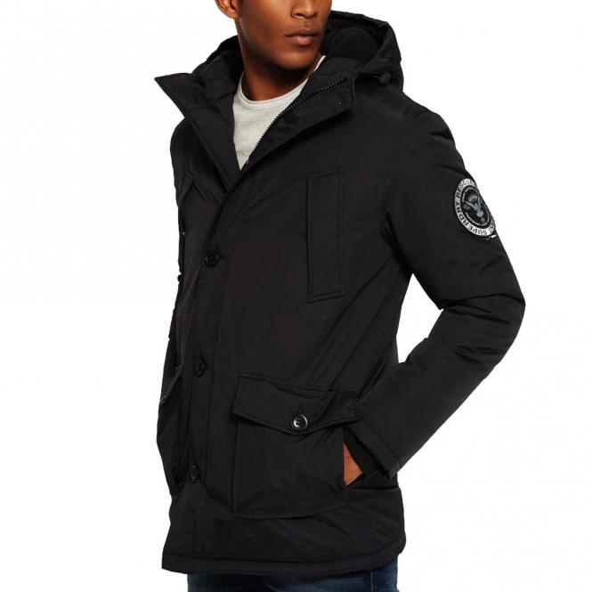 Superdry Superdry Everest Parka Coat Black 02A M50001GN