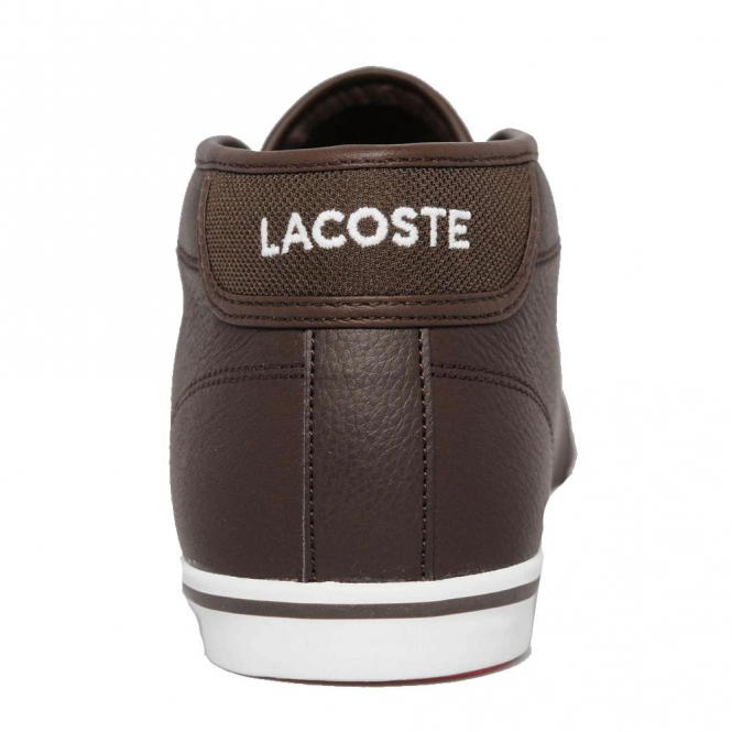 0354d9ad6350eb Lacoste Footwear Lacoste Ampthill LCR3 Dark Brown Leather Trainer ...