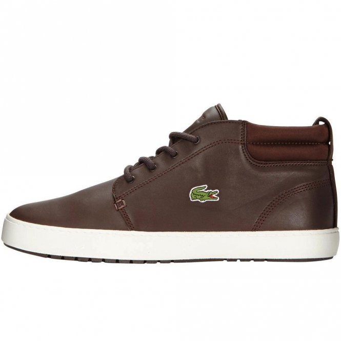 Lacoste Footwear Lacoste Ampthill Terra 316 Dark Brown Leather Trainer Boots