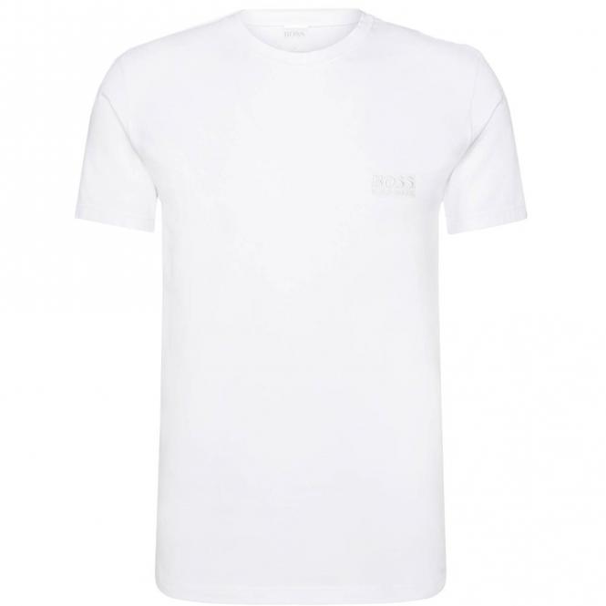 33211ecd Hugo Boss Hugo Boss Plain White Crew Neck Logo T-Shirt 50325388 ...