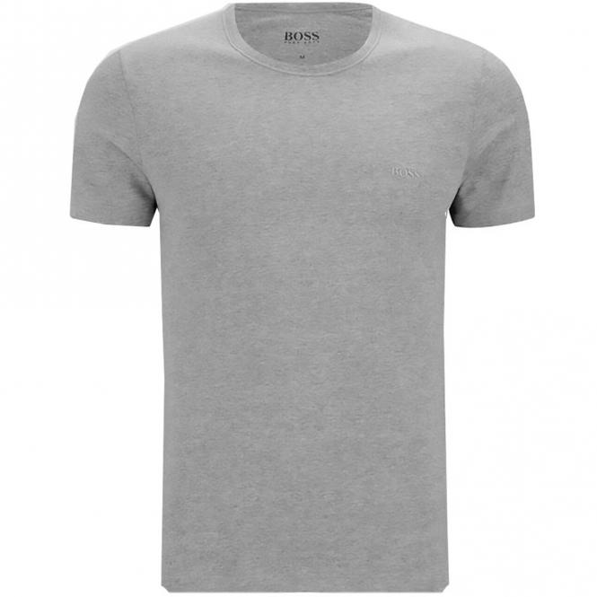 62ec117d Hugo Boss Hugo Boss Plain Grey Crew Neck Logo T-Shirt 50325388 ...