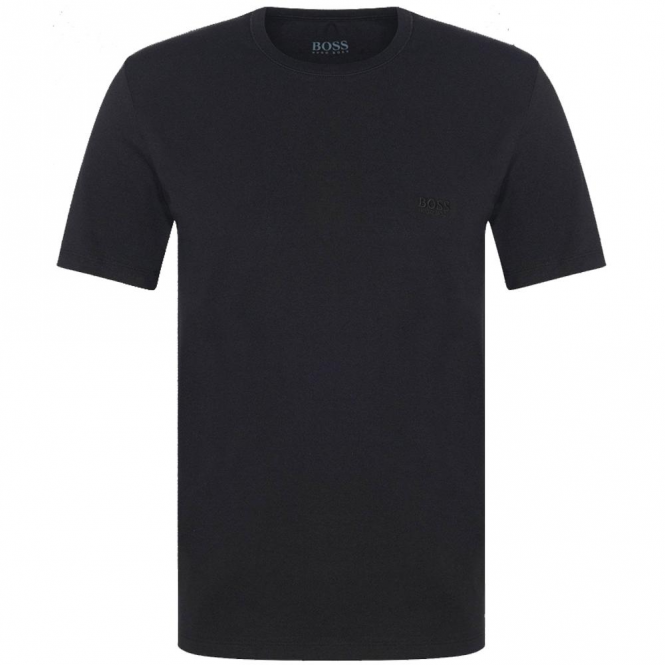 9fb692f55 Hugo Boss Hugo Boss Plain Black Crew Neck Logo T-Shirt 50325388 ...