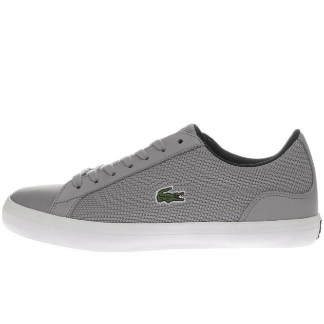 Lacoste Lerond 117 3 SPM Grey Leather Mix Trainers