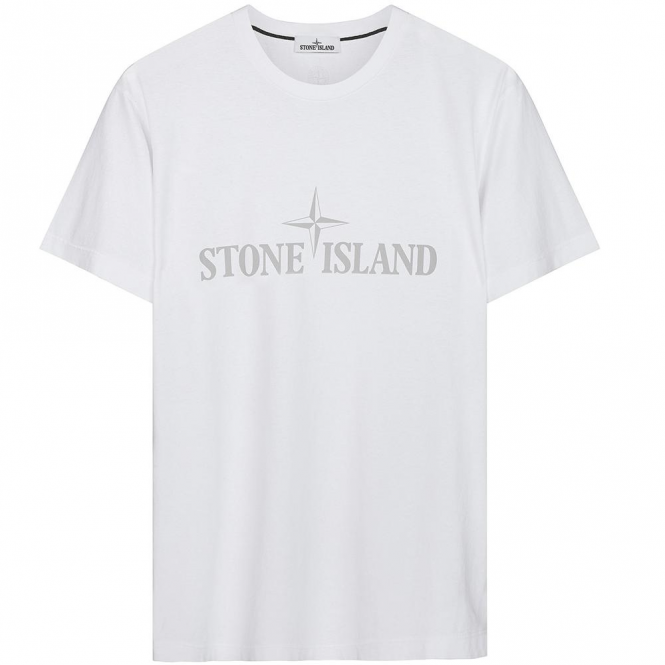 Stone Island Institutional Logo Slim Fit T-Shirt White V0001 2NS83