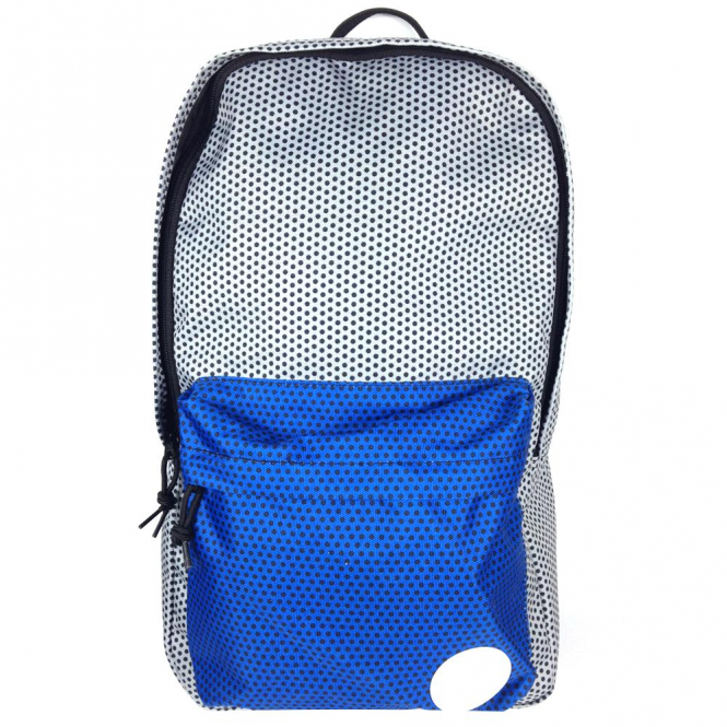 caf5bf92b235 Converse Accessories Converse Backpack Bag Silver Blue Polka Dot ...